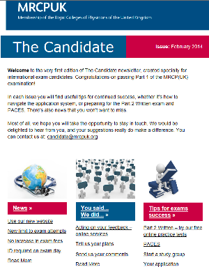 Sign up for the Candidate newsletter